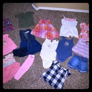 Girls bundle of 9 month summer clothes